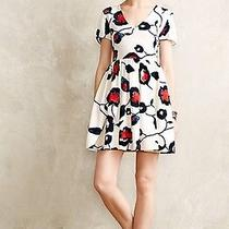 Nwt Anthropologie Painted Poppies Dress Size Xs by Collective Concepts Photo