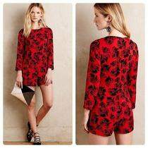Nwt Anthropologie Peter Som X Made in Kind Blaine Romper Red Black Floral Sz 14 Photo
