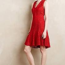 Nwt Anthropologie Red Flounced Lace Dress by Sam & Soni Orig 178.00 Photo