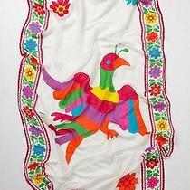 Nwt Anthropologie Siri Bird Large Shawl Scarf by Theodora & Callum 175 Photo
