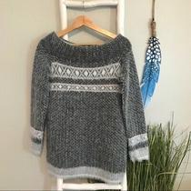 Nwt Anthropologie  Sleeping on Snow Faroe Sweater Sz S Grey White Orig 118 Photo