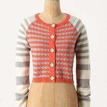 Nwt Anthropologie Sunset Sails Striped and Cropped Sweater Cardigan Photo