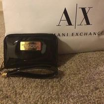 Nwt Armani Exchange Iphone Wristlet Can Hold Iphone 4 5 Black Great Gift Photo