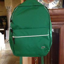 Nwt Auth Lacoste Green Everyday Backpack Photo