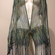 Nwt Auth Missoni Italy Fringe Wrap Ready to Wear Runway Statement Rtw Orange Lbl Photo