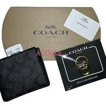Nwt Authentic (2.pcs) 1-Coach Signature Wallet & 1-Hrse. Carriage Phone Ring Photo