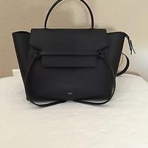 Nwt Authentic Celine Mini Belt Bag Blackdrummed Leather Photo