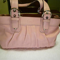 Nwt Authentic Coach All Leather Soho Pleated Blush Pink & Silver Tote F13732 Photo