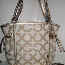 Nwt Authentic Coach Audrey Op Art Tote Bag 19572 Photo