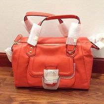 Nwt Authentic Coach Campbell Leather Satchel Hot Orange Brass F24690 Photo