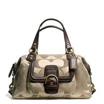 Nwt Authentic Coach Campbell Signature Satchel Khaki Brown F24741 Photo