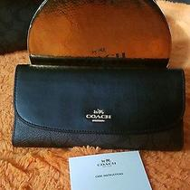 Nwt Authentic Coach Checkbook Wallet  Photo