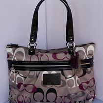 Nwt Authentic Coach F22961 Signature Daisy Optic Print Tote Handbaggift Bag Photo