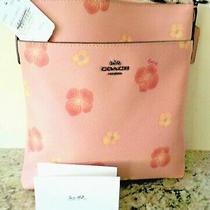 Nwt Authentic Coach Kitt Crossbody Pink Pansy Print (89520) Photo