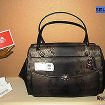 Nwt Authentic Coach Large Satchel Handbag Must See  Absolutely Beautiful Photo