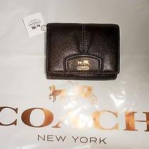 Nwt Authentic Coach Madison Leather Mahogany Compact Clutch F46604 Photo