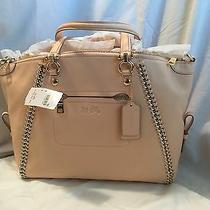 Nwt Authentic Coach Pebbled Chain Satchel 34339 Apricot Blush Whipstitch 595 Photo