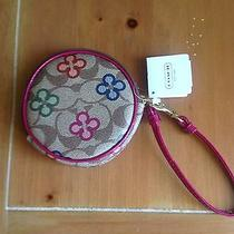 Nwt Authentic Coach Peyton Signature Clover Novelty Coin Purse W/keyring F62330 Photo
