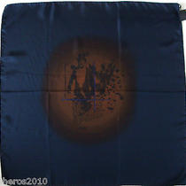 Nwt Authentic Fendi Dark Blue Silk Scarf Foulard Photo