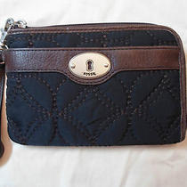 Nwt Authentic Fossil Black Key Per Ew Wristlet Wallet Sl3927001 Photo