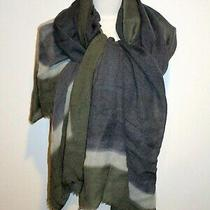 Nwt Authentic Georgio Armani 100% Wool Xl 41x70 Bluish Grey Dusty Scarf/shawl   Photo