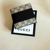 Nwt Authentic Gucci Men and Women Wallet Black Brown Leather Photo