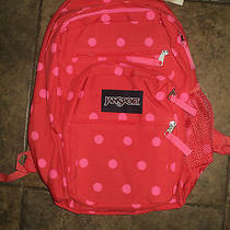 Nwt Authentic Jansport Big Student Coral Dusk Spot School Bag Backpack Photo