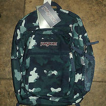 Nwt Authentic Jansport Big Student Navy Starky Camo School Bag Backpack Photo