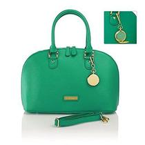 Nwt Authentic Joy & Iman 21 Section Green Leather Handbag (No Pocket Watch)  Photo