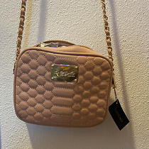 Nwt Authentic Light Pink Bebe Crossbody With Chain and Pockets Purse Blush Photo