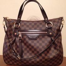 Nwt Authentic Louis Vuitton Damier Ebene Evora Mm-France Photo