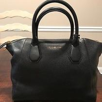 Nwt Authentic Michael Kors Campbell Satchel - Black Leather  Photo