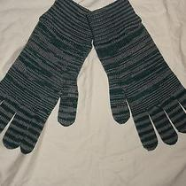 Nwt Authentic Missoni Knit Green/grey Wool Gloves/mittens Photo