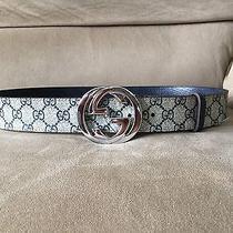 Nwt Authentic Monogram Gucci Belt 100 Cm Fits 32-36 Photo