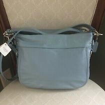 Nwt Authentic Signature Leather Coach Purse Handbag Tote Satchel Light Blue Photo