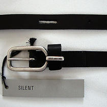 Nwt Authentic Silent Damir Doma Black Leather Belt M  Photo