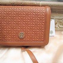 Nwt Authentic Tory Burch 'Bryant Quilted Leather Luggage Cross-Bodybag 495 Photo