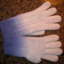 Nwt Autumn Cashmere Handknit Dip Dye Cable Glove in Blue 99 Photo