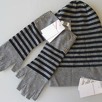 Nwt Autumn Cashmere Striped Bag Hat & Gloves 240 Photo