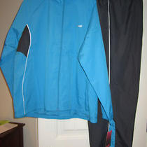 Nwt Avia Women's 2x Lined Warmup Wind Suit Athletic Suit Aqua & Charcoal Grey Photo