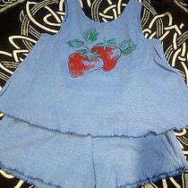 Nwt Avon Strawberry 2-Piece Short Set Sleep Lounge Tank Matching Outfit 7/8 Cute Photo