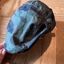 Nwt Baby Boys Gap Navy Green Camo Driving Hat Size S/m New Newsie Cap 2/3yo Photo