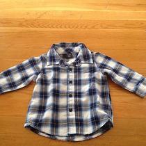 Nwt Baby Gap Baby Boy Blue Plaid Shirt Photo