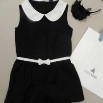 Nwt Baby Gap Black White Romper Size 4/4t Love It Retail Headband Photo