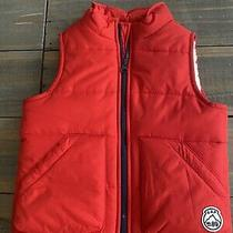 Nwt Baby Gap Boy Red Puffer Vest Size 3 Photo