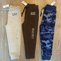 Nwt Baby Gap Boys 4t/4yrs Sweat Pant Lot Bundle Gray Blue Charcoal Camouflage Photo
