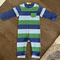 Nwt Baby Gap Boys Blue / Green Striped One Piece Romper 12-18 Months Photo