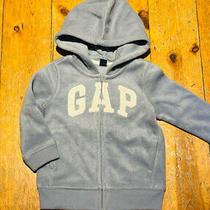 Nwt Baby Gap Boys Girls Hoodie Blue Gap Logo Fleece Zip 18-24m 24 Photo