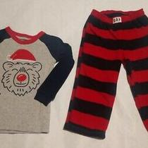 Nwt Baby Gap Boys Holiday Christmas Bear Pajamas Pjs 2pc 12-18 Months Photo