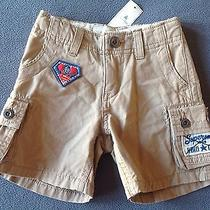 Nwt Baby Gap Boys Junk Food Superman Cargo Shorts 12-18 Months Photo